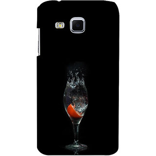 ifasho Rose in water glass with Drop of water Back Case Cover for Samsung Galaxy J3