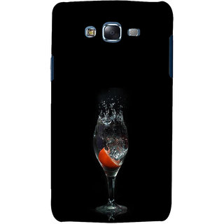 ifasho Rose in water glass with Drop of water Back Case Cover for Samsung Galaxy J7