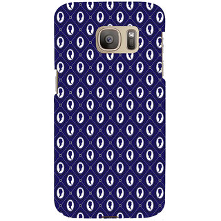 ifasho Animated  Royal design with Queen head pattern Back Case Cover for Samsung Galaxy S7 Edge