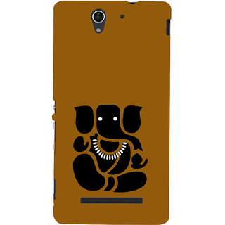 ifasho Modern Art Ganesh Back Case Cover for Sony Xperia C3 Dual