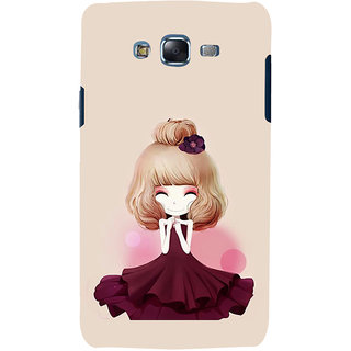 ifasho Girl  with Flower in Hair Back Case Cover for Samsung Galaxy J5