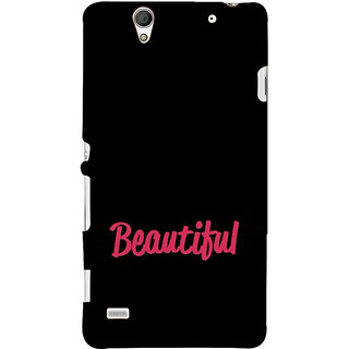 ifasho Bautiful word Back Case Cover for Sony Xperia C4