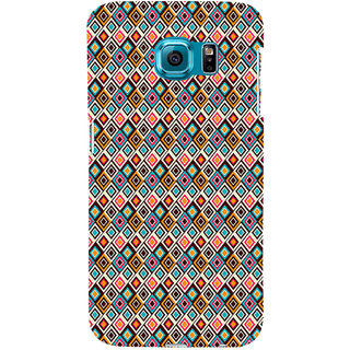 ifasho Animated Pattern colrful rajasthani design Back Case Cover for Samsung Galaxy S6