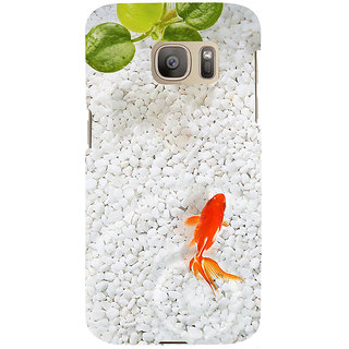 ifasho Fish in water with stone acquarium Back Case Cover for Samsung Galaxy S7 Edge