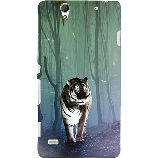ifasho Animated Pattern With Tiger Back Case Cover for Sony Xperia C4