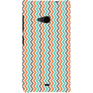 ifasho Animated Pattern of Chevron Arrows  Back Case Cover for Nokia Lumia 535