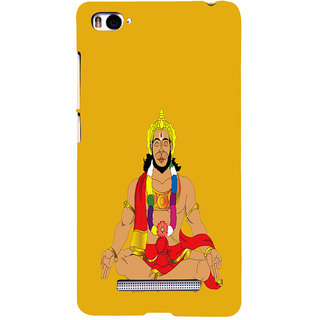 ifasho Lord Hanuman Back Case Cover for Redmi Mi4i
