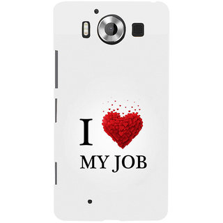 ifasho Love Quotes I love my job Back Case Cover for Nokia Lumia 950