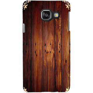 ifasho Animated Royal Pattern with Wooden back ground Back Case Cover for Samsung Galaxy A3 A310 (2016 Edition)