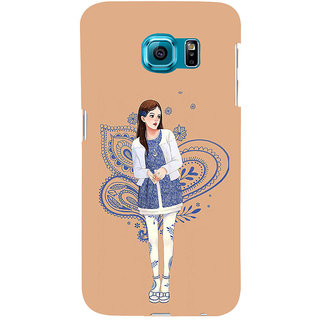 ifasho Beautiful Girl Back Case Cover for Samsung Galaxy S6