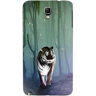 ifasho Animated Pattern With Tiger Back Case Cover for Samsung Galaxy Note3 Neo