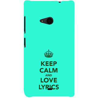 ifasho Nice Quote On Keep Calm Back Case Cover for Nokia Lumia 535