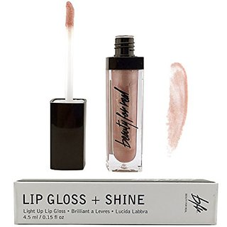 Beauty For Real Non-Sticky Lip Gloss With Built-In LED Light and Mirror, Color: Champagne Shimmer (STARLUST)
