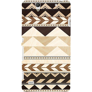ifasho 3Diangular Pattern Back Case Cover for Sony Xperia C4