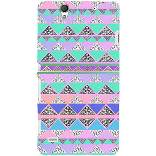 ifasho multi color 3Diangular Pattern Back Case Cover for Sony Xperia C4