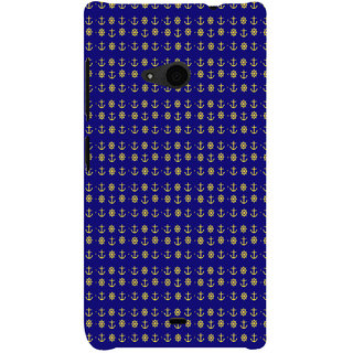 ifasho Modern Art Design Pattern with Lot Of small anchor and disc Back Case Cover for Nokia Lumia 535