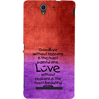 ifasho Love Quote Back Case Cover for Sony Xperia C3 Dual