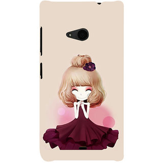ifasho Girl  with Flower in Hair Back Case Cover for Nokia Lumia 535