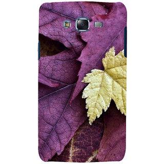 ifasho Fallen Leaf Back Case Cover for Samsung Galaxy J7 (2016)