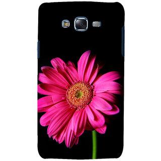 ifasho Flower Design Pink flower in black background Back Case Cover for Samsung Galaxy J7 (2016)