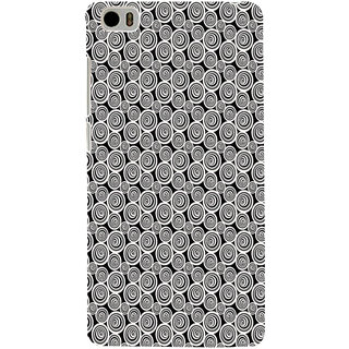 ifasho Animated Pattern  littel and Big Circle black and white Back Case Cover for Redmi Mi5
