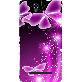 ifasho Butterfly Back Case Cover for Sony Xperia C3 Dual