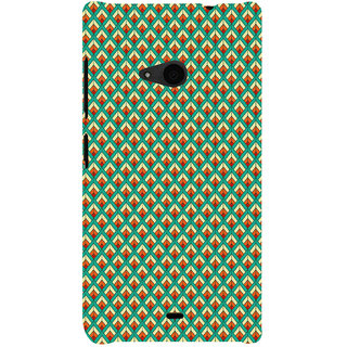 ifasho Animated Pattern of Chevron Arrows royal style Back Case Cover for Nokia Lumia 535