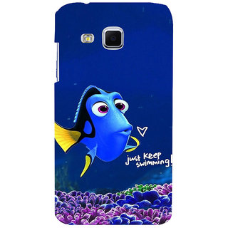 ifasho Fish cartoon just keep swimming Back Case Cover for Samsung Galaxy J3