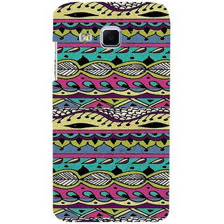 ifasho Modern Art Design Pattern lot of Leaf Back Case Cover for Samsung Galaxy J3