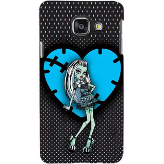 ifasho Crazy Girl Back Case Cover for Samsung Galaxy A3 A310 (2016 Edition)