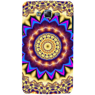 ifasho Animated Pattern design colorful flower in royal style Back Case Cover for Samsung Galaxy J7 (2016)