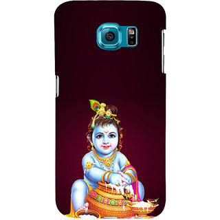 ifasho Lord Krishna stealing curd Back Case Cover for Samsung Galaxy S6 Edge Plus