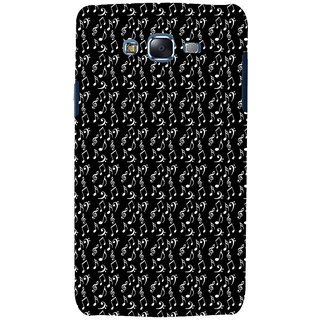ifasho Animated Pattern design black and white music symbols and lines Back Case Cover for Samsung Galaxy J5