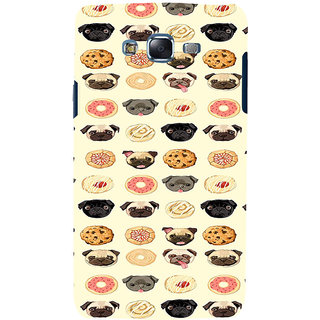 ifasho Animated Pattern dogs head and cookies Back Case Cover for Samsung Galaxy J7