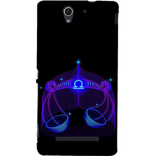 ifasho zodiac sign Libra Back Case Cover for Sony Xperia C3 Dual