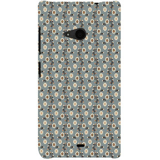 ifasho Animated Pattern colrful design flower with leaves Back Case Cover for Nokia Lumia 535