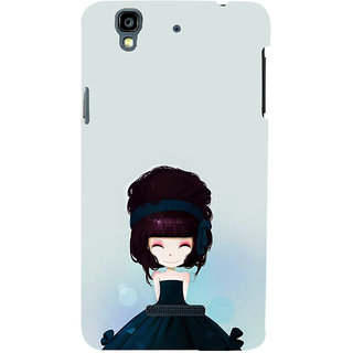 ifasho Cute Girl with Ribbon in Hair Back Case Cover for YU Yurekha