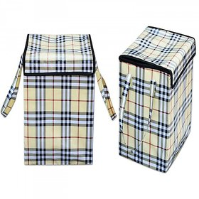 Sns Checkered Foldable Laundry Bag