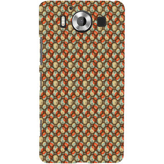 ifasho Animated Pattern With flower inside Circle  Back Case Cover for Nokia Lumia 950