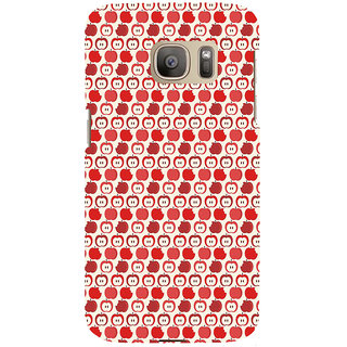 ifasho Animated Pattern design many small apple Back Case Cover for Samsung Galaxy S7 Edge