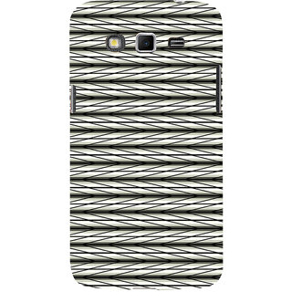 ifasho chevron style and Checks In black and white Pattern Back Case Cover for Samsung Galaxy Grand