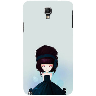 ifasho Cute Girl with Ribbon in Hair Back Case Cover for Samsung Galaxy Note3 Neo