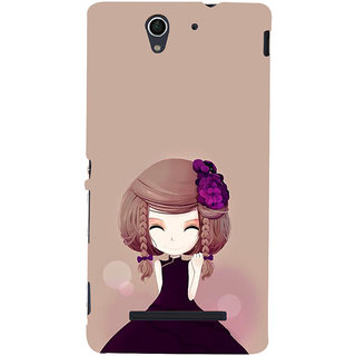 ifasho Girl  with Flower in Hair Back Case Cover for Sony Xperia C3 Dual