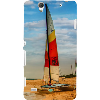 ifasho Boat in a beach Back Case Cover for Sony Xperia C4