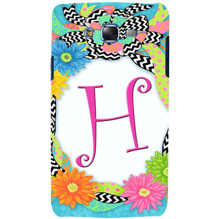 ifasho alphabet name series H Back Case Cover for Samsung Galaxy J7