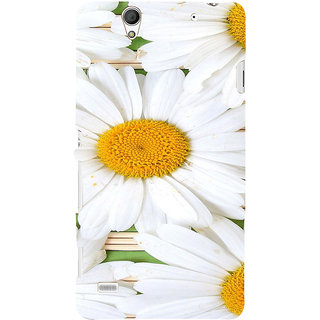 ifasho Pattern white flower Back Case Cover for Sony Xperia C4