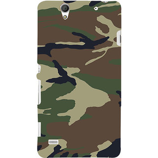 ifasho Army dress pattern Back Case Cover for Sony Xperia C4