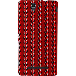 ifasho Design lines pattern Back Case Cover for Sony Xperia C3 Dual
