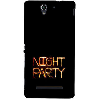ifasho Night party Back Case Cover for Sony Xperia C3 Dual