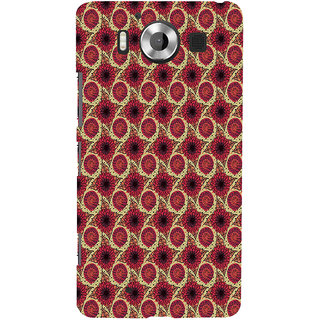 ifasho Animated Pattern design flower with leaves Back Case Cover for Nokia Lumia 950